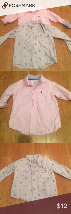 2 Toddler Boys Button Downs 2 button down shirts!! These were worn once. Anchor theme! One from Old Navy and the other from Carters. In excellent condition! Shirts & Tops Button Down Shirts