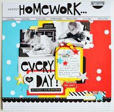 Homework...Everyday   Bella Blvd. - Scrapbook.com