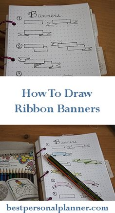 how to draw a banner ribbon