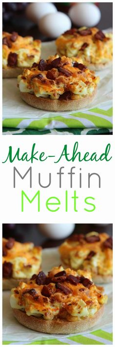 Pioneer Woman's Make-Ahead Muffin Melts - Perfect way to use up those hard-boiled eggs from Easter!!