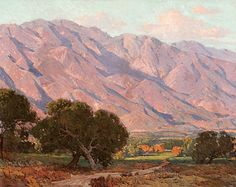 Edgar Alwin Payne (1883–1947)  Hills of Altadena, 1917–1919 Oil on canvas, 36 x 45 inches Steven Stern Collection