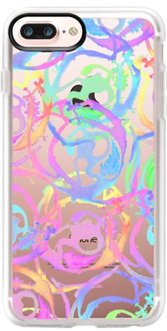 Casetify iPhone 7 Plus Case and iPhone 7 Cases. Other Pattern iPhone Covers - Bright Colorful Watercolor Painted Swirls by BlackStrawberry   Casetify