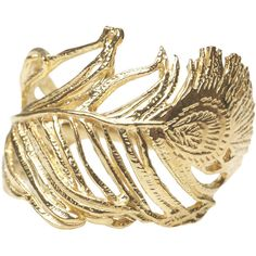 Alex Monroe Gold Plated Peacock Feather Ring