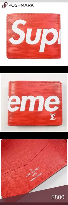 Brand New never used Supreme LV Wallet Never used Supreme Other
