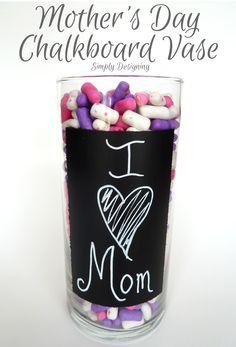 Mothers Day, Chalkboard Vase, #mothersday #mothersdayhoa #chalkboard