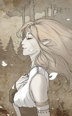 Aelin in Heir of Fire after running through the woods in her Fae form with Rowan.
