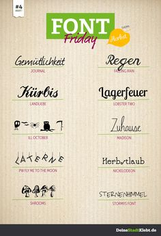 Font Friday #4 - Herbst