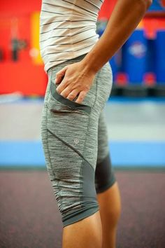 Lululemon - I have these!  Wish I looked this cute in them...  Workin' on that...