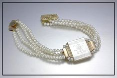 Gorgeous bracelet. We carry the complete collection of jewelry designer Donna Chambers hand made antique mother-of-pearl gaming chip jewelry. Each one-of-a-kind piece of jewelry is perfect for those that want to wear the extraordinary! Visit Renaissance Fine Jewelry in Vermont. www.vermontjewel.com