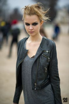 via Le 21eme Arrondissement: Josephine Skriver (model)// Love the jacket. @siriah via S. B. W.