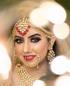 Indian Bridal Nose Ring Photography New Ideas Best Bridal Makeup, Bridal Makeup Looks, Indian Bridal Makeup, Bridal Looks, Bridal Style, Bride Makeup, Bridal Beauty, Wedding Makeup, Wedding Hair