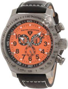 Swiss Legend Men's 22828-GM-06 SL Pilot Chronograph Orange Dial Watch Swiss Legend. $109.99. Save 84% Off!