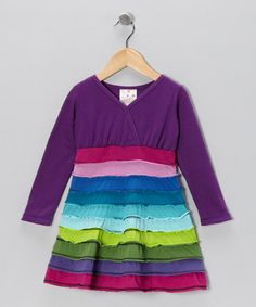 Take a look at this Purple Horizon Surplice Dress - Toddler by Mythereal on #zulily today!