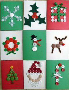 Postales de Navidad Originales Hechas a Mano Postales de Navidad Hechas Por