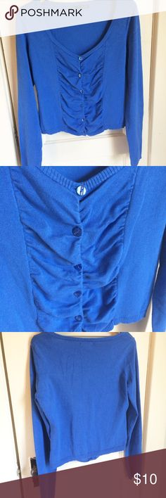 "Maurices XL cardigan Button down, cornflower blue cardigan.  Length is 21"" from shoulder. Maurices Sweaters Cardigans"
