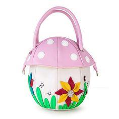 $29.89. Fun Mushroom Shape Personalized Laser Shape Shell Wristlet Shoulder Chain Girls Handbag Women's Handbag Crossbody Messenger Bag Flap (pink, red)