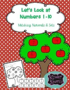 Looking for simple practice for numbers 1-10?Students will cut apples with the numerals 1-10 and will match them to the numeral or to a set.  What a great way to quickly differentiate a matching activity.I use this as a follow up activity to the book, Chicka Chicka 123!