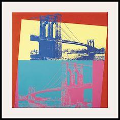 Giclee Print: Brooklyn Bridge, by Andy Warhol : Bike Room, Single Image, A Decade, Andy Warhol, Brooklyn Bridge, Watercolor Paper, Printing Process, Filmmaking, Giclee Print