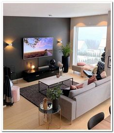 From a simple living room decor to elaborated lighting and plants. Your living r. Simple Living Room Decor, Living Room Grey, Living Room Lighting, Cozy Living, Lights For Living Room, Small Living Room Ideas With Tv, Room Lights, Living Furniture, Furniture Legs