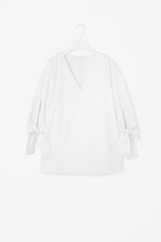 COS | A-line top with tied cuffs