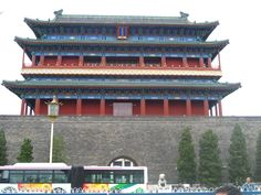 Well preserved city gate at QianMen, Beijing