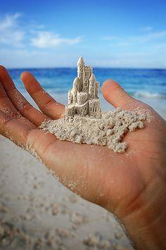 mini sand castle