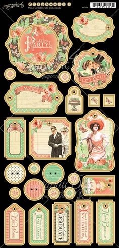 *Pre-Order* Graphic 45 - Time to Celebrate Collection - Chipboard