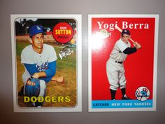 ** Don Sutton & Yogi Berra Baseball Cards **
