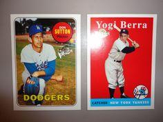 ** Don Sutton & Yogi Berra Baseball Cards **