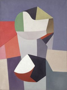 Abstraction bleu et rouge. Jean Helion (1904-1987) was a French painter whose abstract work of the 1930s established him as a leading modernist. In 1926 he was introduced to cubism and his work of this period, mostly still lifes, is close in style to that of Torres-García, with simplified color and bold outlines. His midcareer rejection of abstraction was followed by 5 decades as a figurative painter.