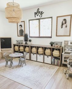 Playroom Design, Playroom Decor, Playroom Ideas, Family Room Playroom, Playroom Storage, Office Playroom, Toddler Playroom, Toy Rooms, New Room