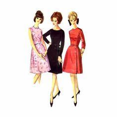 1960s Jewel Neck Aline Dress Simplicity 5702 Vintage Sewing Pattern