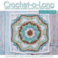 CROCHET-A-LONG SQUARE 7! It's that time again! Perfect way to start the weekend!! Also just to add to that perfection another chart included in the pattern of square 7! :) LINK TO DOWNLOAD IN BIO  Colours needed for this square (Family Knit DK): Duck Egg 223 Mistletoe 274 White 001 Gravel 075 Antique 049  Show us your squares by using #calwithelleyarns on your posts or simply tag us @elle_yarns  #elleyarns #cal #crochetalong #stepbystep #doubleknit #familyknit #crochetpattern #freepattern…