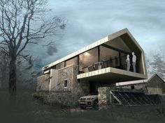 [First look + project data] McGarry-Moon Architects has won planning permission for this self-build barn conversion in Broughshane, Ballymena, Northern Ireland Modern Barn House, Agricultural Buildings, Contemporary Barn, Converted Barn, Best Barns, Rustic Luxe, Stone Barns, Planning Permission, Maine House