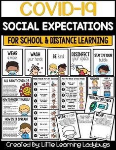 Social Expectations for School & Distance Learning 2nd Grade Classroom, Kindergarten Classroom, Kindergarten Lessons, Classroom Rules, Google Classroom, Classroom Decor, Eyfs Classroom, Beginning Of School, New School Year