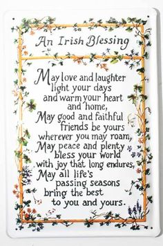 Irish Blessing Birthday Old Blessings Wishes