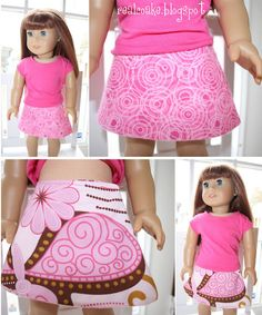 reversible doll skirt - perfect beginner sewer project