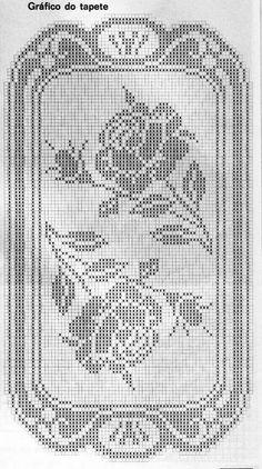 Crochet Table Runner Pattern, Free Crochet Doily Patterns, Crochet Placemats, Filet Crochet Charts, Crochet Motif, Cross Stitch Cards, Cross Stitch Flowers, Thread Crochet, Crochet Stitches