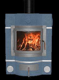 Ecco Stove ® E678 in metallic blue with light grey casting and alloy trims. #eccostove #alternativeheating #designyourowne678