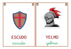 Libro vocabulario castillos Learning Spanish, Messages, Activities, Armour, Interactive Activities, Infant Activities, Blue Prints, Cardboard Castle, Medieval Castle
