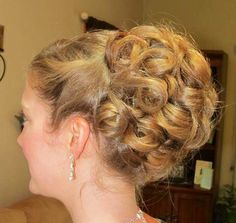 Updo- maybe simpler and smaller for christmas parties?