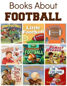 Books About Football~Over 50 footballk books for kids. Click through for the full list and book descriptions.