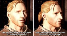 Dragon Age: Awakening. Anders.  Ah yes, before mistakes where made.  Good times my carefree friend.  Good times