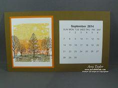 Just a Little Ink: Desktop Calendar #2 - Stamping Escape