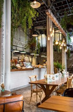 Image result for lighting for low ceilings cafe