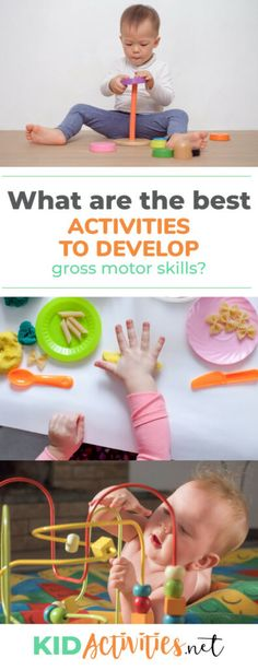 What are the best activities to develop gross motor skills in toddlers? We list 15 activities for three different stages. Physical Activities For Toddlers, Creative Activities For Kids, Enrichment Activities, Gross Motor Activities, Gross Motor Skills, Craft Activities For Kids, Infant Activities, Educational Activities, Toddler Crafts