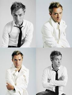 Soo cute! Jude Law, Hey Jude, David, Ex Wives, Film Music Books, Tom Cruise, Actor Model, Gorgeous Men, Medium Hair Styles