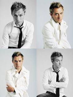 Soo cute! Jude Law, Hey Jude, Ex Wives, Film Music Books, Johnlock, Actor Model, Tom Cruise, Gorgeous Men, Medium Hair Styles