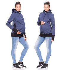 BRAND NEW! Viva la Mama | The Softshell baby carrying jacket ALBATROS (water-repellent, windproof, steel-blue) has the baby wearing options in front of your body or on the back. It is your perfect outdoor jacket for pregnancy, maternity, baby wearing and everyday use. Mommy and baby are protected from rain, wind and cold. Ideal companion for outdoor and mountain moms! :)