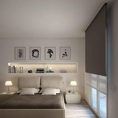 Tende oscuranti – quando sono utili Blackout curtains - when they are useful. Modern Master Bedroom, Home Bedroom, Bedroom Wall, Bedroom Decor, Bedrooms, Bedroom Ideas, Home Room Design, House Design, Modern Masters